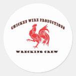 Producciones del alambre de pollo etiqueta redonda