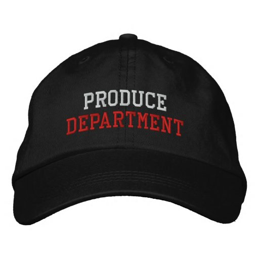 Produce Department Embroidered Baseball Hat