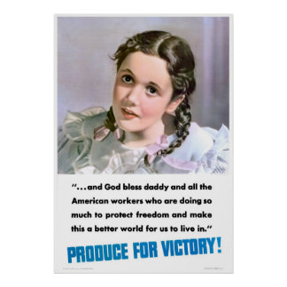 Produce For Victory Print
