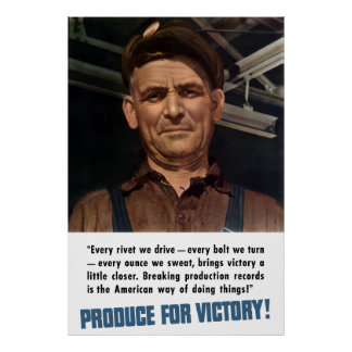 Produce For Victory! Print