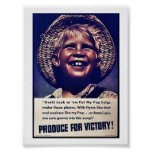 Produce For Victory! Poster