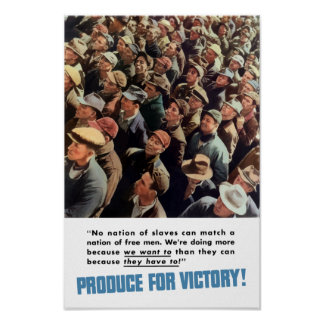 Produce For Victory -- World War 2 Print