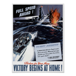 Produce For Your Navy -- WWII Poster