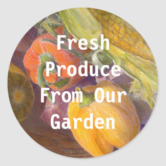 Produce from our Garden Template Sticker