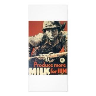 Produce More MILK for Him vintage War poster Rack Card