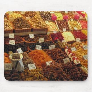 Produce stall, Boqueria market, Barcelona, Spain Mousepad