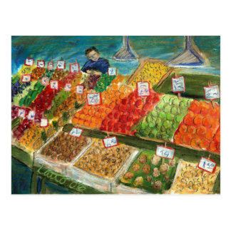 Produce Vendor Postcard (Pike Place Seattle)