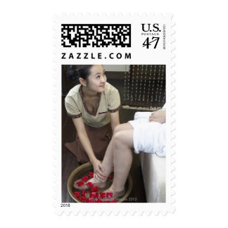 Produced in Beijing, China 4 Stamp
