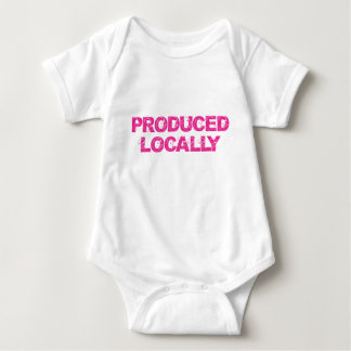 Produced Locally in Pink Baby Bodysuit