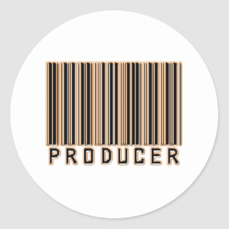 Producer Barcode Classic Round Sticker