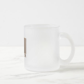 Producer Barcode Frosted Glass Coffee Mug