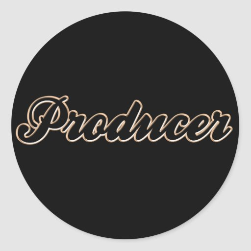 Producer Baseball Style Stickers