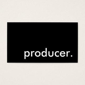 producer. business card