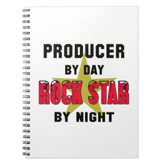 Producer by Day rockstar by night Spiral Note Books