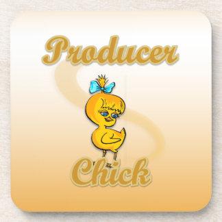 Producer Chick Beverage Coaster