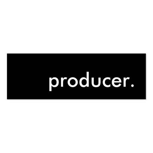 producer. Double-Sided mini business cards (Pack of 20)