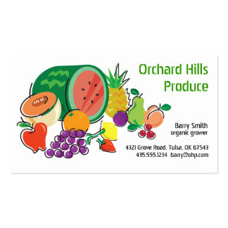 Producer Grower/Vendor_Totally Fruity Double-Sided Standard Business Cards (Pack Of 100)