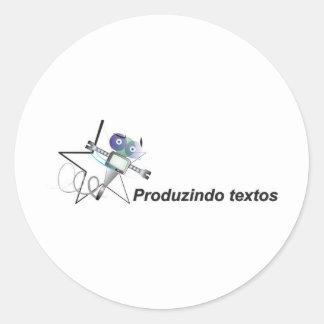 Producing texts robozinho star estrelinha classic round sticker
