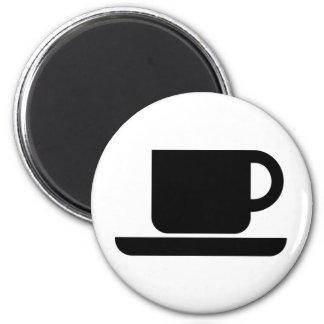 ¡Producs del amante del café! Imán Redondo 5 Cm