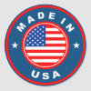 product country flag label made in america usa classic round sticker