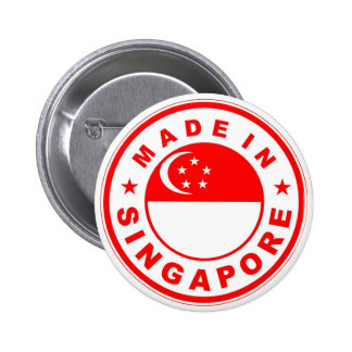 product country flag label made in singapore pinback button