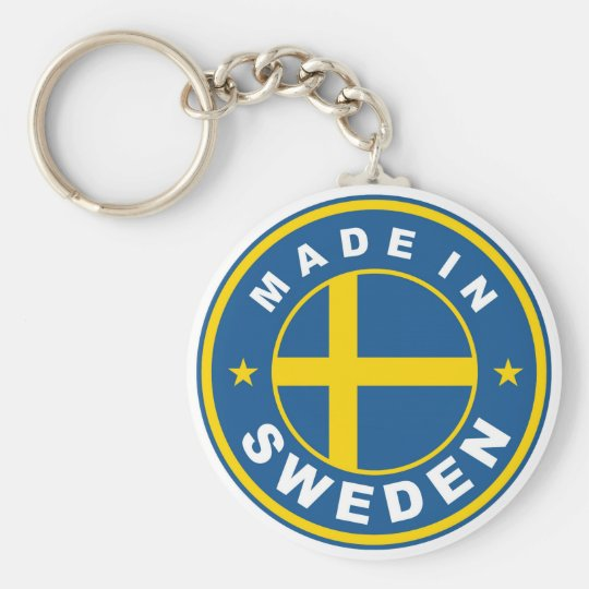product country flag label made in sweden keychain