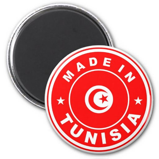 product country flag label made in tunisia fridge magnet