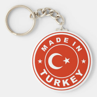 product country flag label made in turkey keychain