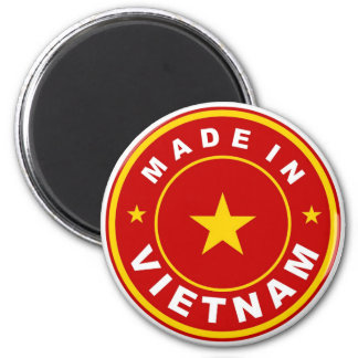 product country flag label made in vietnam 2 inch round magnet
