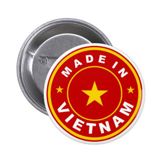 product country flag label made in vietnam button