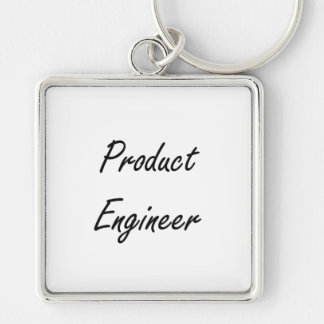 Product Engineer Artistic Job Design Silver-Colored Square Keychain