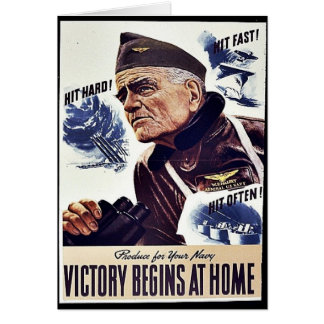 Product For Your Navy, Victory Begins At Home Card