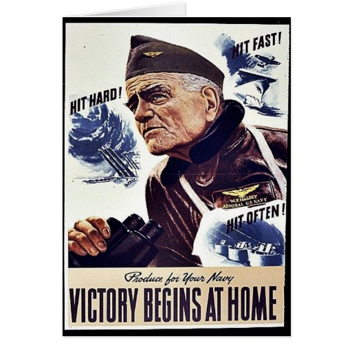 Product For Your Navy, Victory Begins At Home Greeting Cards