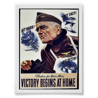 Product For Your Navy, Victory Begins At Home Poster