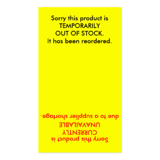 Product | Inventory Stock Card Double-Sided Standard Business Cards (Pack Of 100)