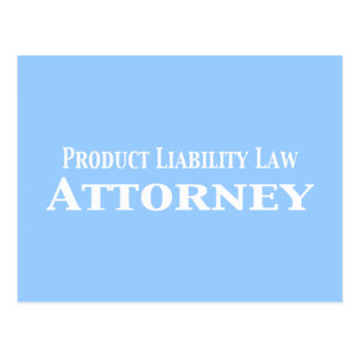 Product Liability Law Attorney Gifts Postcard