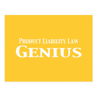 Product Liability Law Genius Gifts Postcard