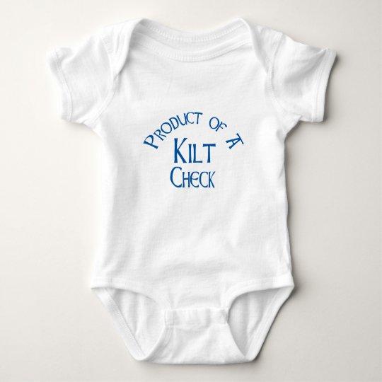 Product of a Kilt Check - Blue Baby Bodysuit