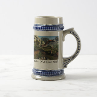 Product Of A Toxic Mind 18 Oz Beer Stein