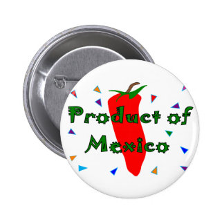 Product of Mexico, Red Chilli Pepper T-Shirts Pin