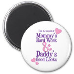 Product of Mommy's Hard Work 2 Inch Round Magnet
