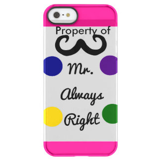 Product of Mr. right Permafrost® iPhone SE/5/5s Case