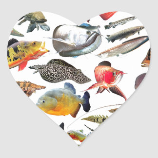 Product of photograph entering of large-sized trop heart sticker