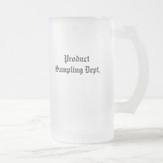 Product Sampling Dept. Frosted Glass Beer Mug