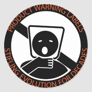 Product-warning-labels Classic Round Sticker