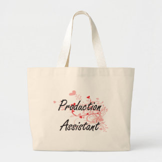 Production Assistant Artistic Job Design with Hear Jumbo Tote Bag