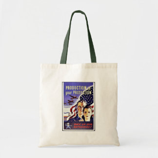 Production Is Your Protection Tote Bags