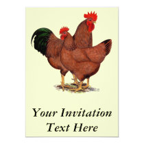 Production Red Chickens Invitation