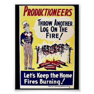 Productioneers, Throw Another Log On The Fire Poster