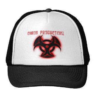 productionz del caos con el logotipo gorra
